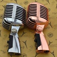 Micrófono Clásico con cable profesional de alta calidad bobina móvil dinámica Mike Deluxe Metal Vocal estilo antiguo Ktv Mic Z6 mike