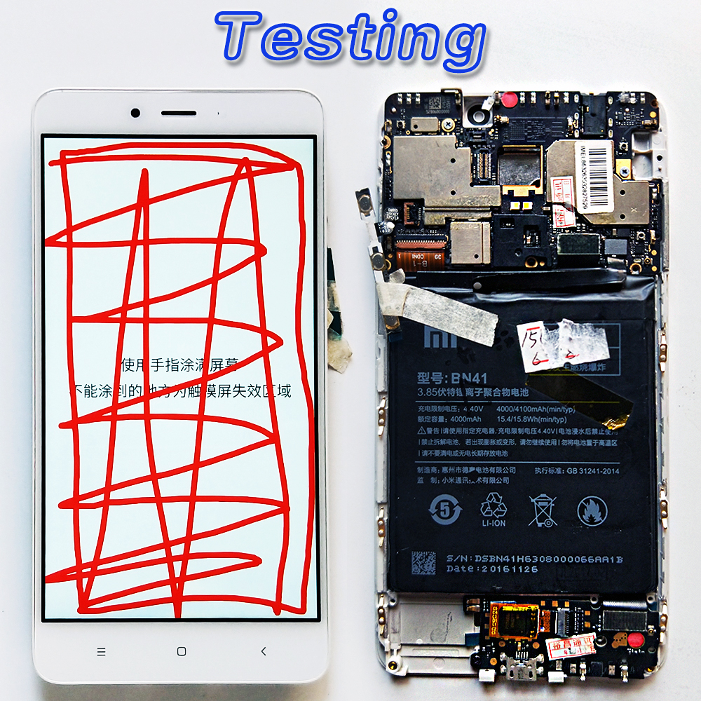 US $17 61 11% OFF|for Xiaomi Redmi Note 4 MTK Helio X20 IPS 1920*1080 LCD  display 5 5 inch touch screen digitizer assembly Frame 10 Point Touchs -in