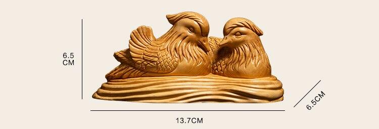 Une paire d'oiseaux de mariage cadeaux oiseau sculpté chambre Feng Shui décoration de vie, artisanat folklorique - 6