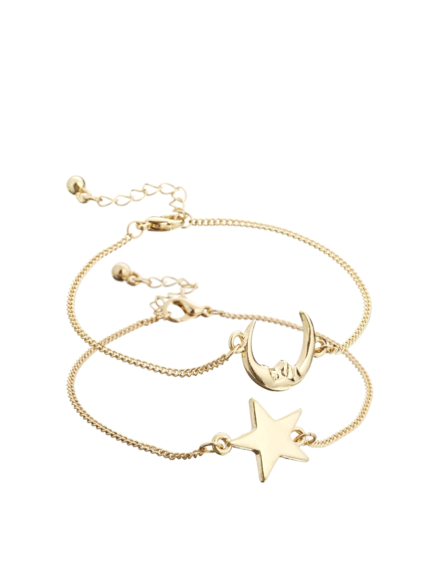 Best Friends Bracelet S Stacked Moon And Star Friendship Charm Bracelets In Chain Link From Jewelry Accessories On Aliexpress Alibaba