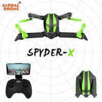 Global Drone SPYDER-X Quadrocopter Drones with Camera HD Wide Angle RC Helicopter WIFI FPV Foldable Quadcopter Mini Drone Dron