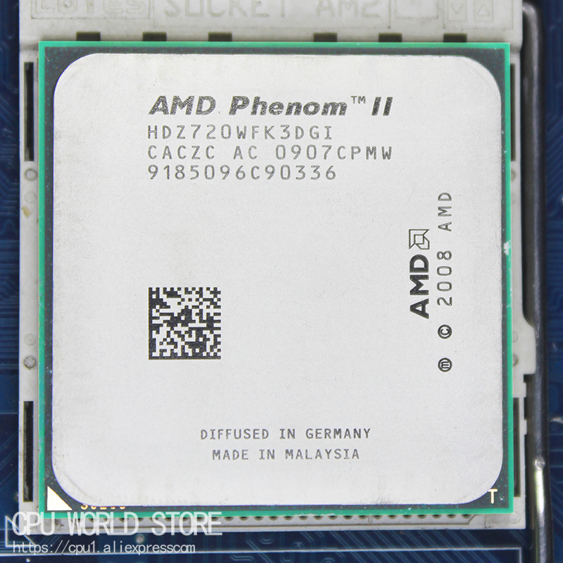 <font><b>AMD</b></font> Phenom II X3 720 Triple-Core <font><b>CPU</b></font> Processor 2.8Ghz/ 6M /95W / 2000GHz Socket <font><b>am3</b></font> am2+938 pin image