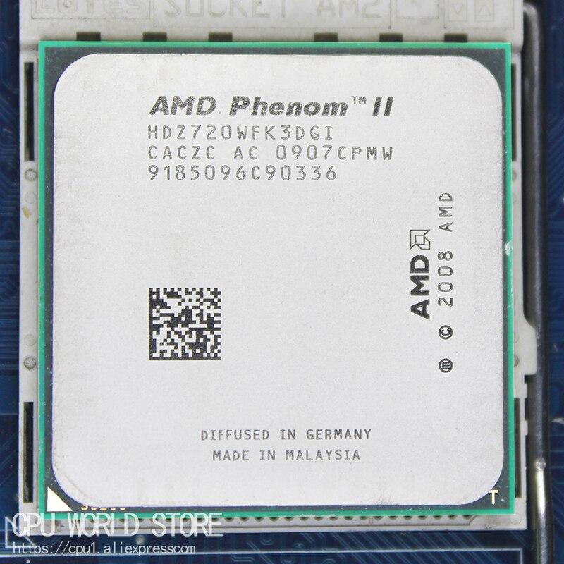AMD Phenom II X3 720 Triple-Core CPU Processador 2.8 Ghz/6 M/95 W/2000 GHz Soquete am3 am2 + 938 pin