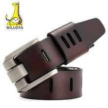MILUOTA  cinturones hombres de alta calidad correa de cuero genuino para  los hombres de lujo Ceinture Homme estilo militar 130 . 51c6a9bd4442