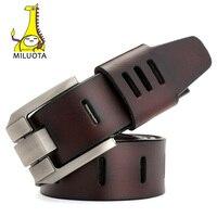 MILUOTA 2016 Designer Belts Men High Quality Genuine Leather Belt Luxury Man Military Style MU012