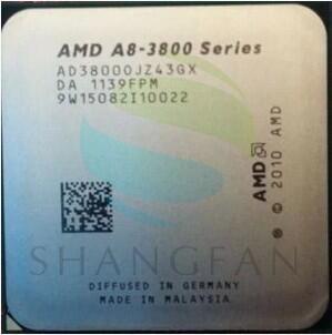 AMD A8 3800  A8-3800 2.4GHz 65W Quad-Core CPU Processor AD3800OJZ43GX A8 3800K Socket FM1/ 905pin