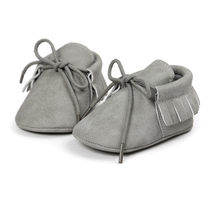 New arrival pu suede leather newborn baby boy girl mocassions soft moccs Bebe Fringe Soft Soled Non-slip Footwear Crib ShoeCX45C(China)