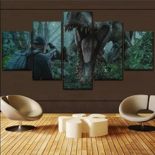 Jurassic World Movie Modern Decor HD Print Painting 5 Piece Canvas Art painting on canvas poster Room