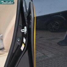 Tonlinker 2 قطعة ألواح رسومات للسيارات يمكنك تركيبها بنفسك نمط المطاط الباب الجانب B عمود عازل للصوت غطاء عازل للصوت ملصقات لتويوتا كورولا Altis 2014