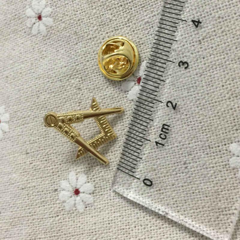 Detail Feedback Questions about 100 pieces lot Custom Fashion Tie Pins  promotion brooch free masons Masonary lapel pin Motif masonic freemasonry  lapel Badge ... d4c089ff52e0