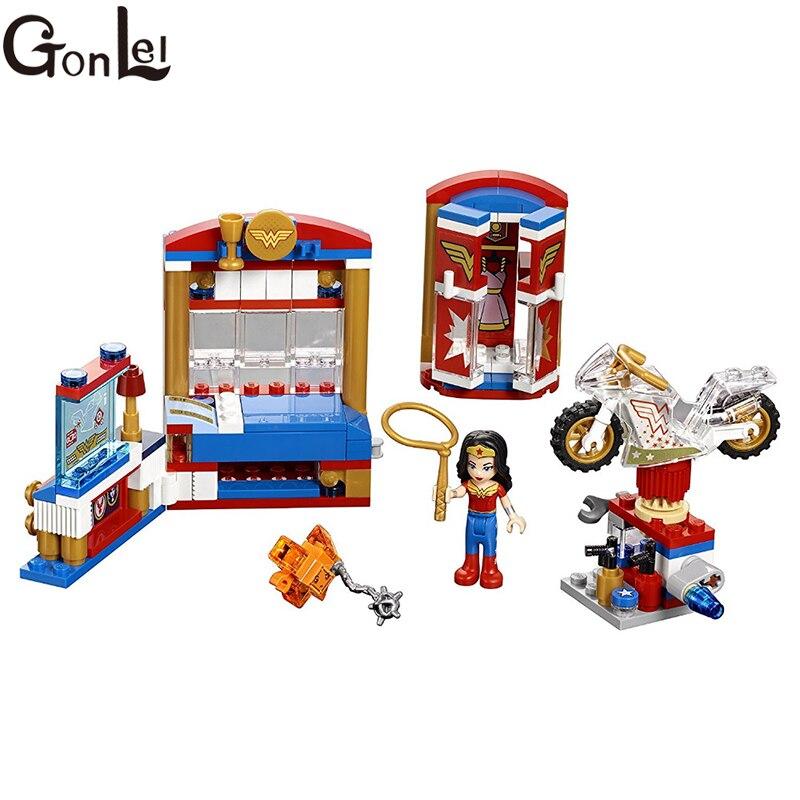 Gonlei Бела 10616 DC Super Hero Обувь для девочек Wonder Woman общежития здания Конструкторы классический для подруг детей модель Игрушечные лошадки Marvel