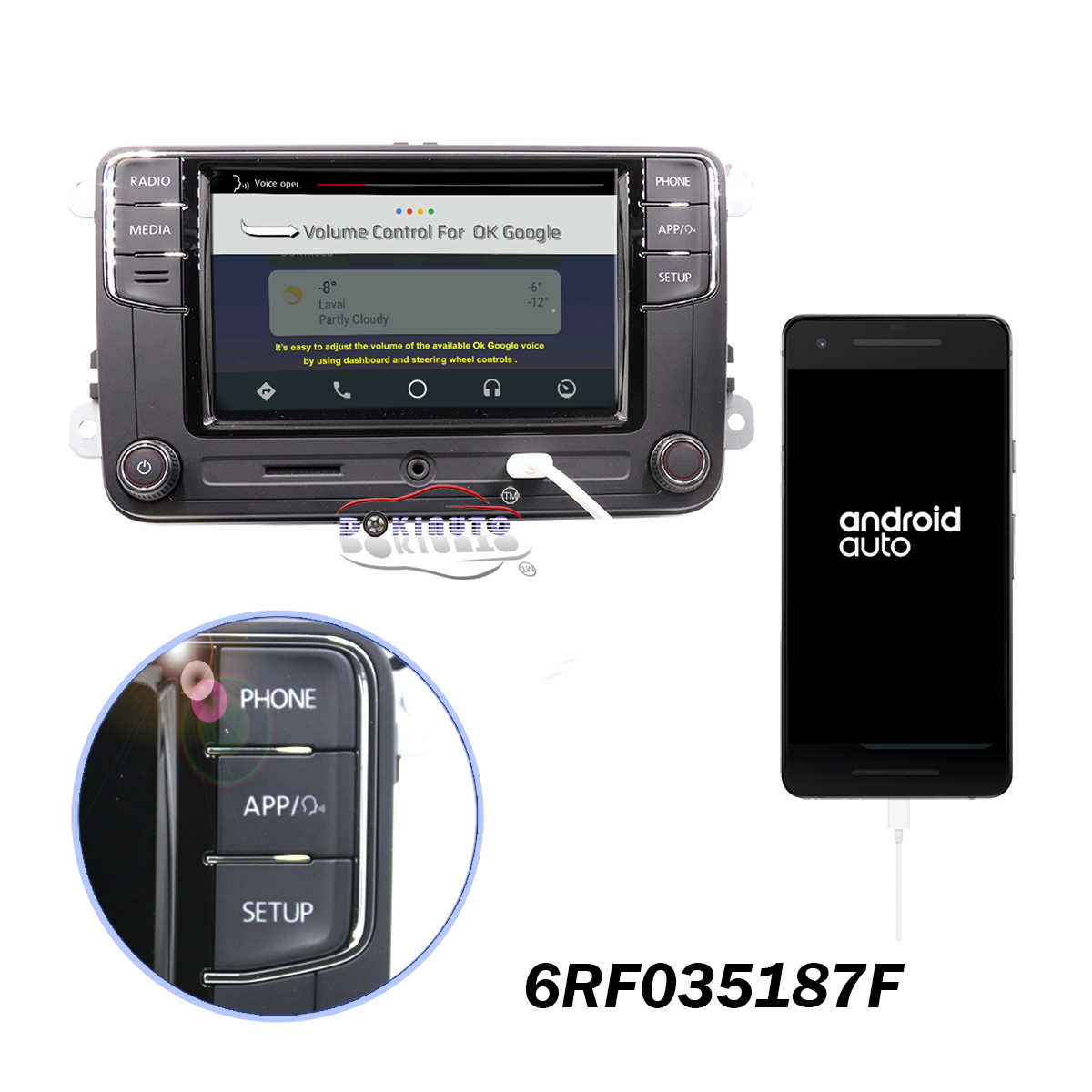 Detail Feedback Questions about CarPlay Android Auto RCD330