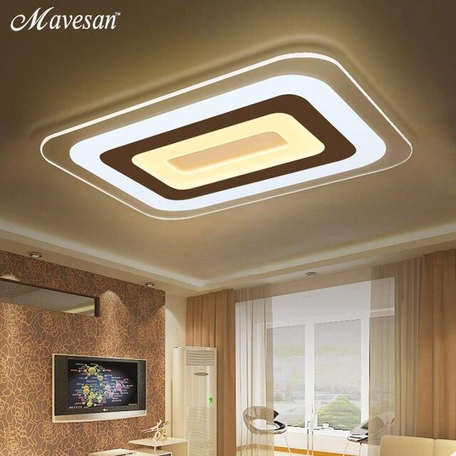 Moderne Led Decke Lichter Für Innen Beleuchtung plafon led Quadratische  Decken Lampe Leuchte Wohnzimmer Schlafzimmer Lamparas De Techo