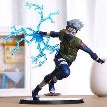 Anime naruto hatake kakashi nirvana trovão pvc figura de ação sasuke coleção modelo decoração de mesa 16cm
