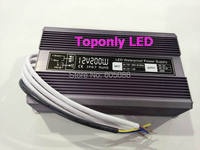 IP67 waterproof 24v 200w led transformer AC110v 220v to DC24v constant voltage led driver led power supply 20pcs/lot wholesale