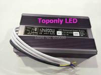 IP67 waterproof 24v 200w led transformer AC110v 220v to DC24v constant voltage led driver led power supply 20pcs/lot wholesale