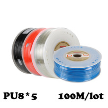 PU8*5 100m/roll Joint pneumatic hose PU tube 8*5mm air pipe to air compressor pneumatic component  red