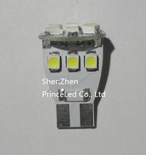 Wholesale Freeshipping, Car LED, Light Interior Bulbs , T10 12 SMD 3528 24v