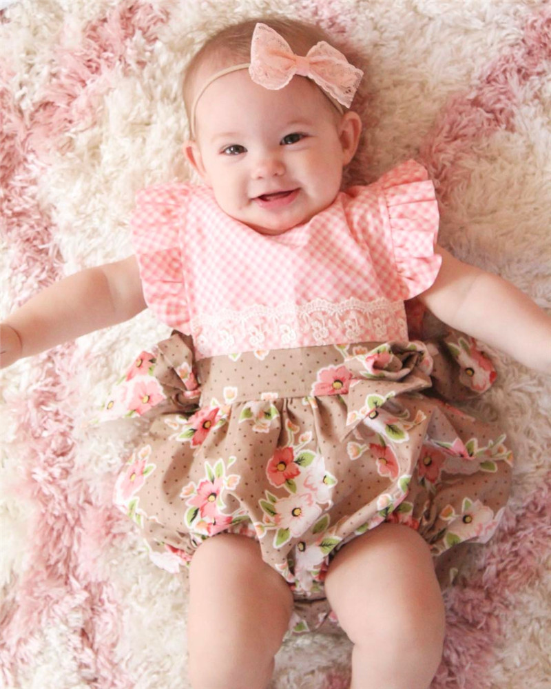 Newborn Baby Girls Lace Romper Jumpsuit Outfit Sunsuit Clothes Pudcoco Cotton Infant Baby Girl Romper Jumpsuit 2016 baby girls summer clothing sets baby girl romper suits romper tutu skirt headband infant newborn baby clothes baby romper