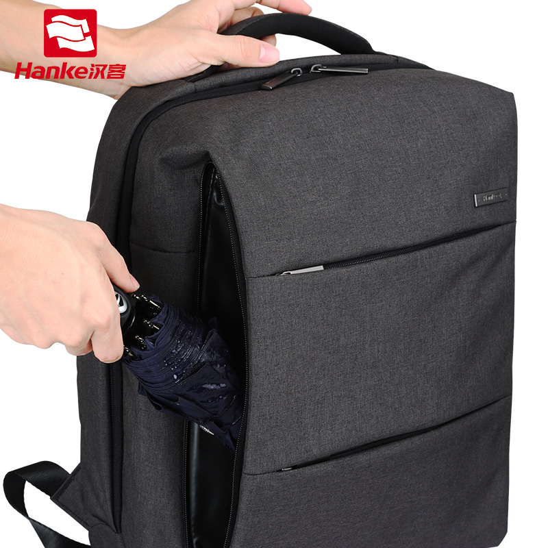 Hanke Fashion Laptop Backpack Men Women with PVC Waterproof pocket College Student School BookBag Casual Daypack Travel Bags 8848 backpack women s daypack stylish laptop backpack school bags men anti thief design waterproof travel backpack 132 028 011