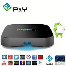 Caja de la Tv inteligente T95R PRO 2G 16G TV Box Android 6.0 S912 octa-core cortex-A53 Kodi 17.0 2.4G + 5G Wifi Bluetooth de Medios Gigabit jugador