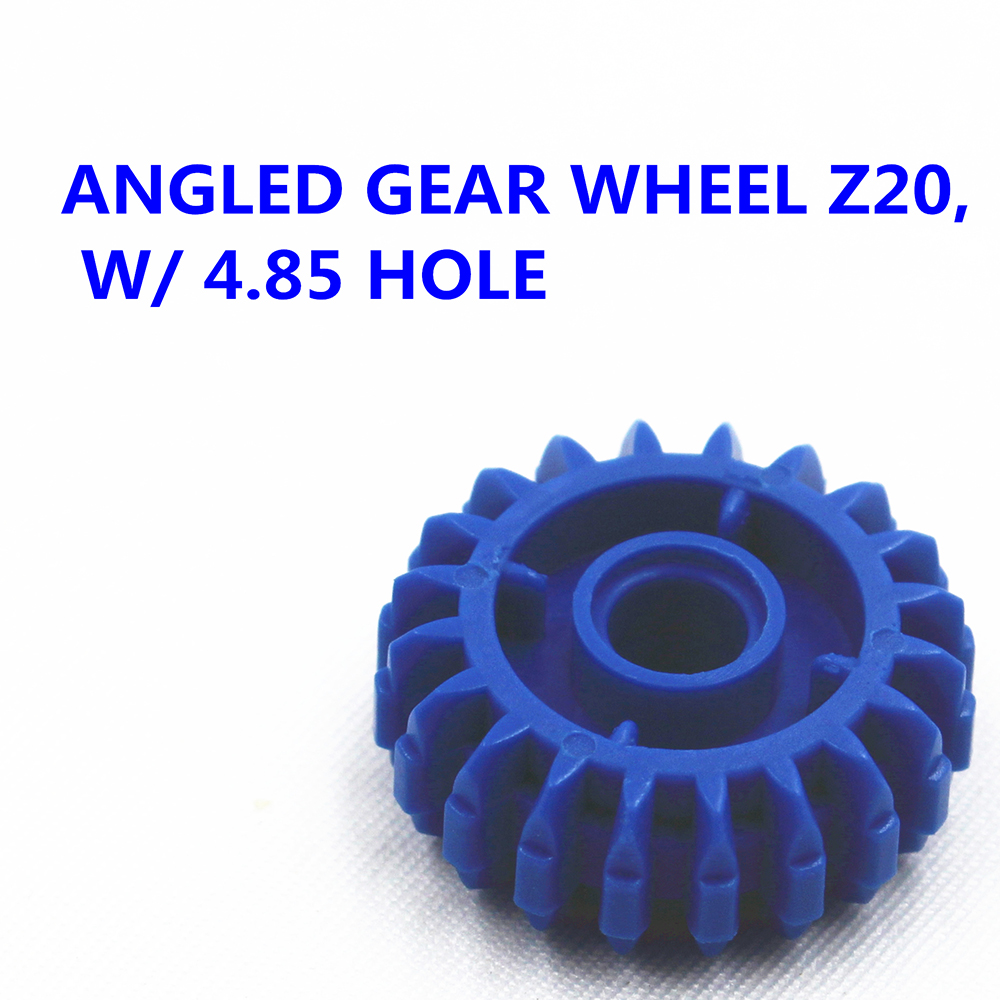 MOC Technic 10pcs Technic ANGLED GEAR WHEEL Z20, W/ 4.85 HOLE Compatible With Lego MOC6224999