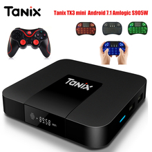 Tanix TX3 мини Умные телевизоры Box Amlogic s905w Комплект Топ ТВ Box 2.4 ГГц Wi-Fi Android 7.1 2 г DDR3 16 г 4 К HD H.265 media player PK X96