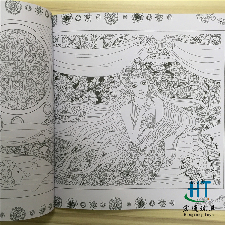 Aliexpress Buy Fairy Tales And Magical Dreams Book Coloring Painting Colouring Mandalas Secret Garden Color Drawing Alice In Wonderland 24pages From
