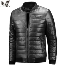 XIYOUNIAO new Winter leather Jacket men plus size M~7XL 8XL Casual Mens motorcycle PU leather Jackets And Coats