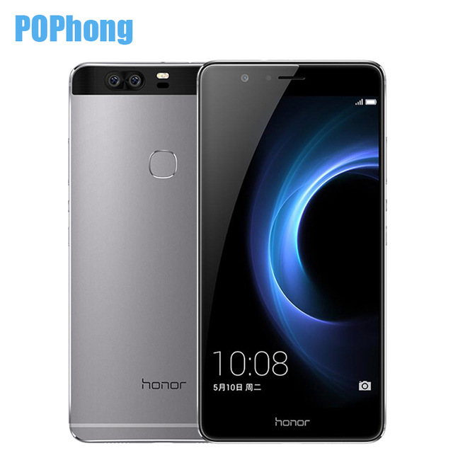 "In Stock 2016 Huawei Honor V8 5.7"" Android 6.0 Octa Core Fingerprint Cell Phone Kirin 950 4GB RAM Dual 12.0MP"