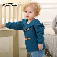 Knitted Cardigan Sweater for baby boy 0 2T infant Kids jumper hooded toddler clothes clothing warm hoodie jacket parka children