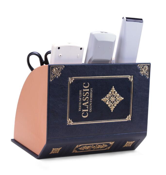 Living room office desk remote control microphone stationery storage box04106