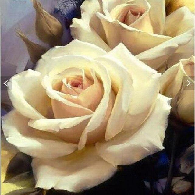 Beibehang Personnalise Personnalise Belle Blanc Rose Peinture A L