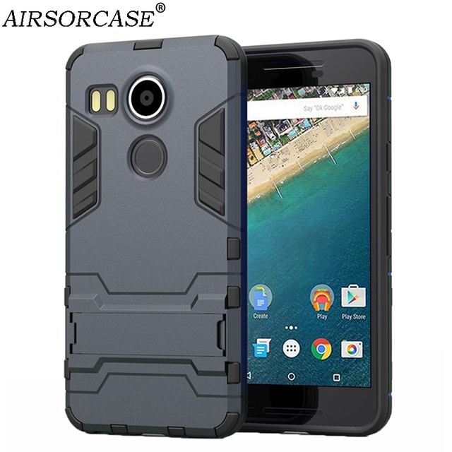 buy popular 14e44 2edef US $3.24 35% OFF|5.2'' For LG Nexus 5X Case Nexus5X Case Hard PC & TPU  Hybrid Kickstand Back Cover Phone Cases for Nexus 5X-in Fitted Cases from  ...
