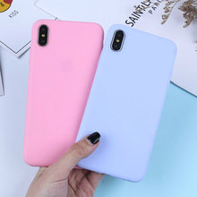 Luxury Candy Solid Color Phone Case For iPhone XS Max X XR Silicone Soft TPU Matte Cases For iPhone 7 8 6 6S Plus 5 5S SE Covers цена и фото