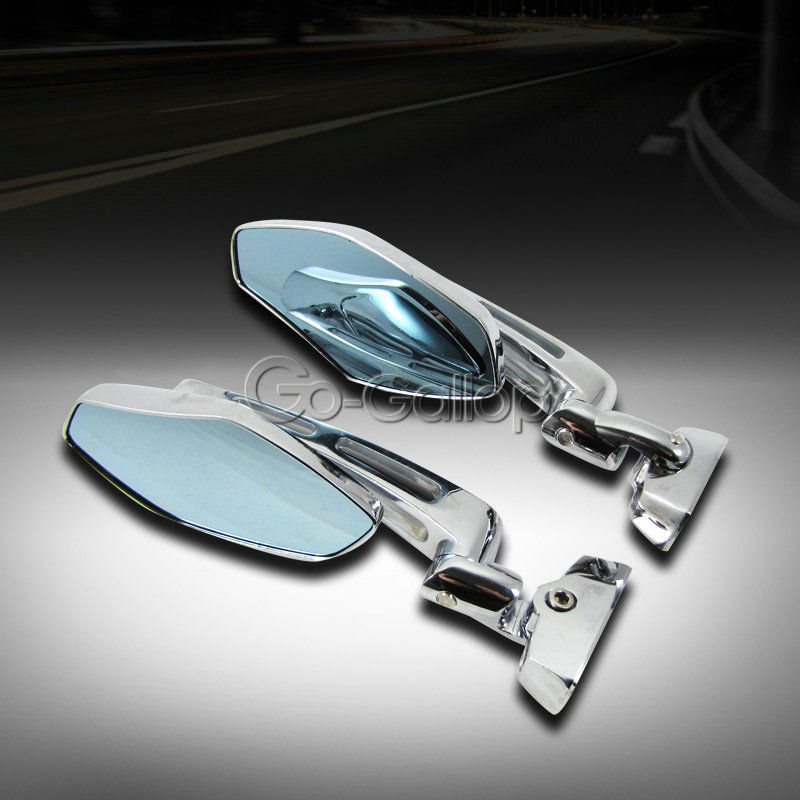 Chrome Motorcycle Sport Side Rearview Mirrors Hayabusa
