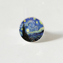 Van Gogh Almond Branch Bloom Art Van Gogh ring Jewelry Birthday Gift Christmas Gift Wedding цены онлайн