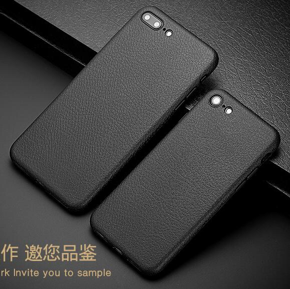sale retailer 1d6c3 a4fab US $1.99 |Vintage Case For iphone 7 6 Retro PU Leather Cases Iphone 6s 7  Plus Simple Black Classic Back Cover Capa Bag Slim Phone Bags-in  Half-wrapped ...