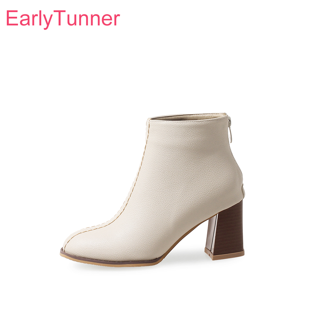 5bffd51ab541 Brand New Autumn Elegant Black Beige Women Ankle Boots Sexy Lady Wedding Shoes  High Heels ES020