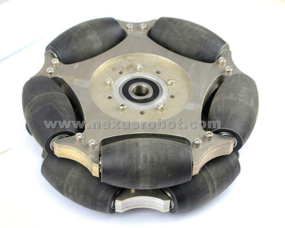254mm Heavy Duty Double Aluminum Omni Wheel W/bearing rollers&Central bearing 14147 дырокол deli heavy duty e0130