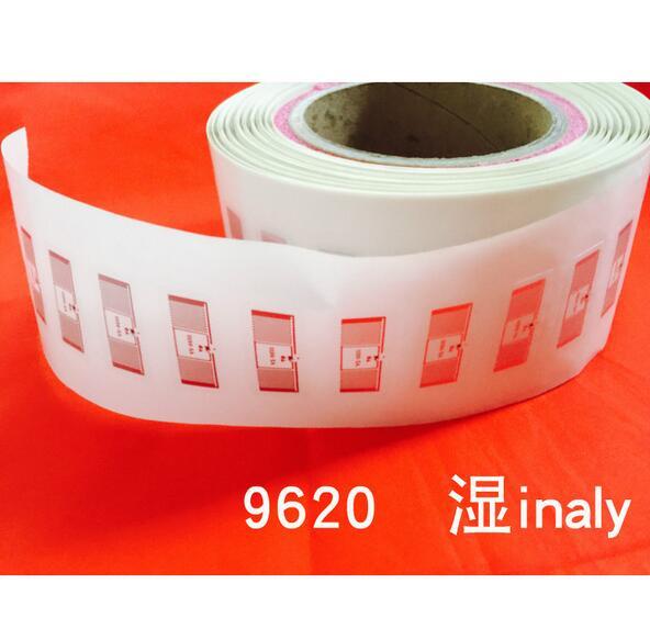 1000pcs lot AZ 9620 Aline H3 RFID UHF Adhesive Tag Aline Higgs3 chip wet Inlay 860