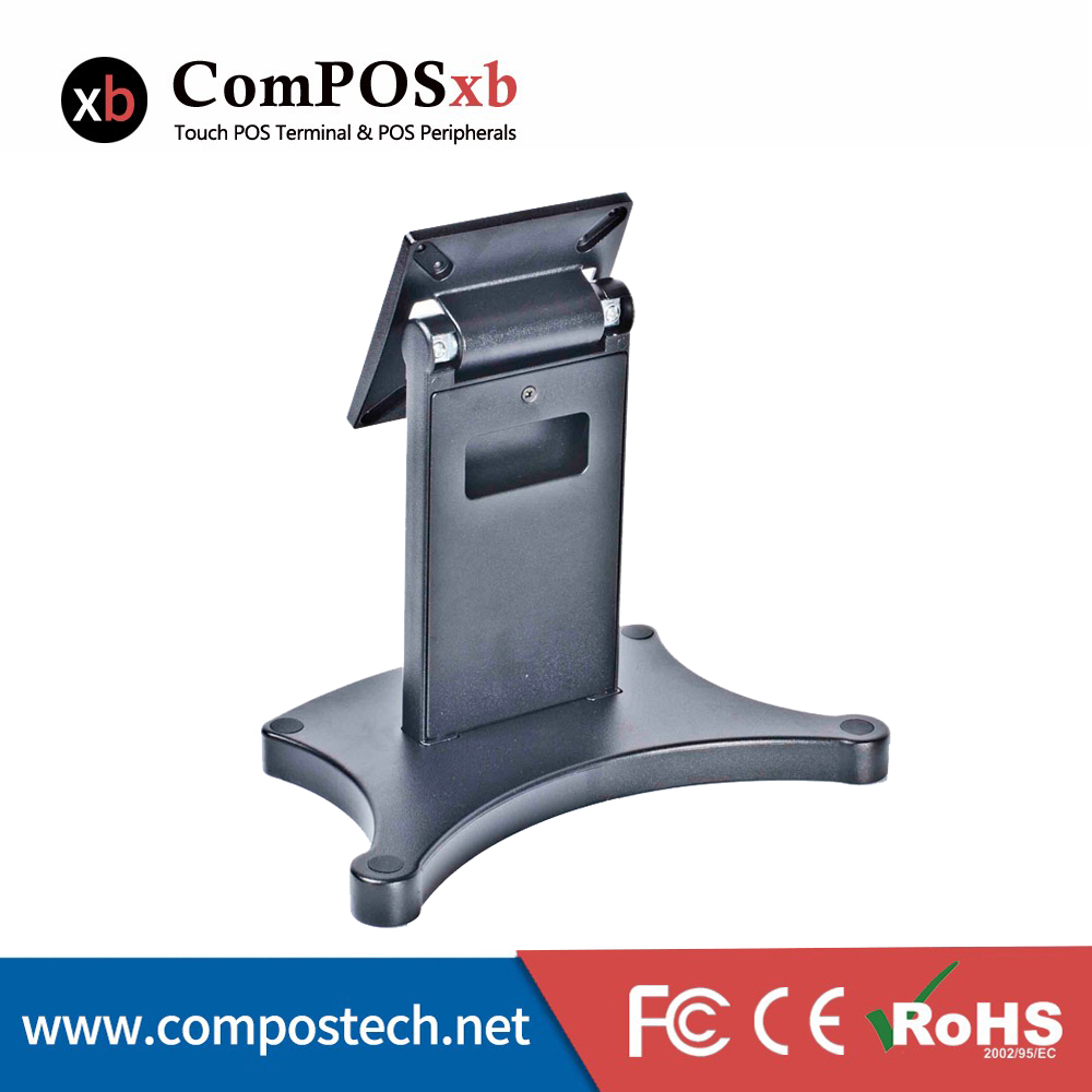 Free shipping China touch monitor stand bufferfly base cool appearance pos stand DZ01A nice white pos system 15 inch touch screen billing machine all in one pos restaurant cash register with free shipping