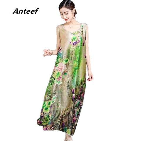 Hot Sale Chiffon Silk Vintage Floral Print Plus Size Women Casual Loose Long Summer Dress Elegant Clothes 2020 Ladies Dresses Sundress — stackexchange