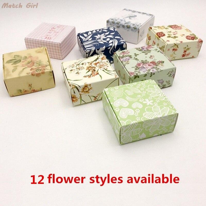 இ50 unids flor patrones aviones caja hecha a mano Jabones ...
