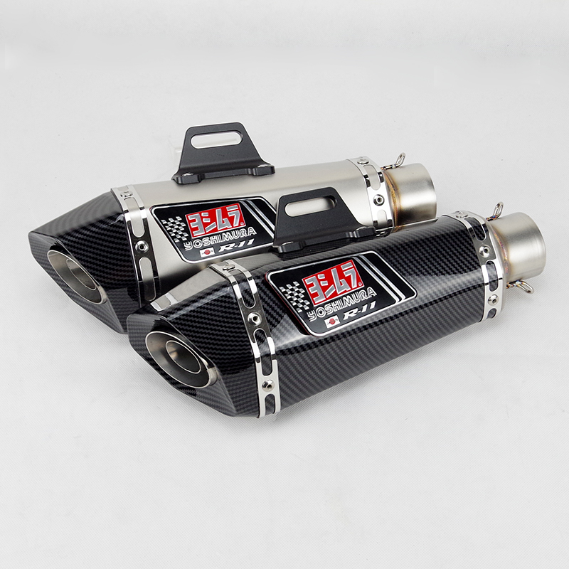 51mm Inlet Universal Motorcycle Yoshimura Exhaust Muffler For FZ1 R6 R15 R3 ZX6R ZX10