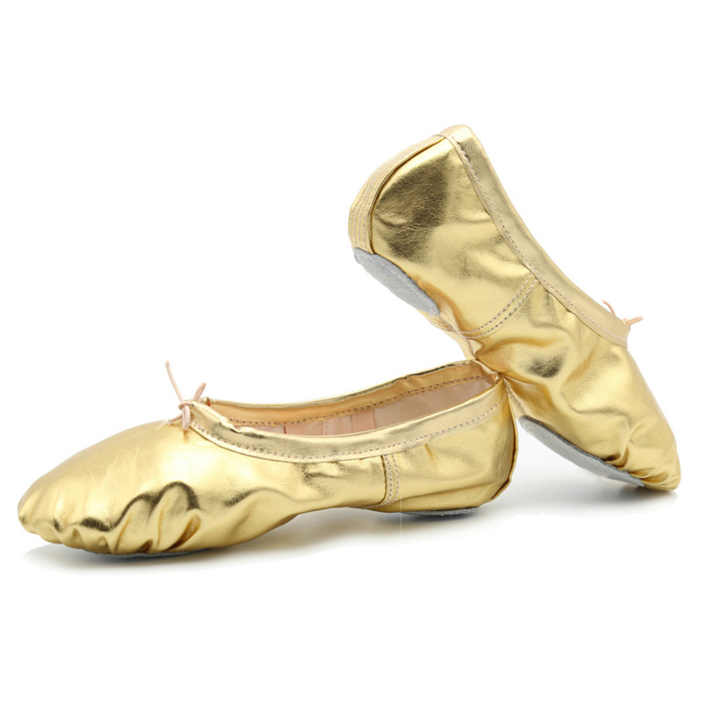 USHINE New Style Gold Silver Body-shaping Training Yoga Slippers Shoes Gym Belly Ballet Dance Shoes Children Girls Woman