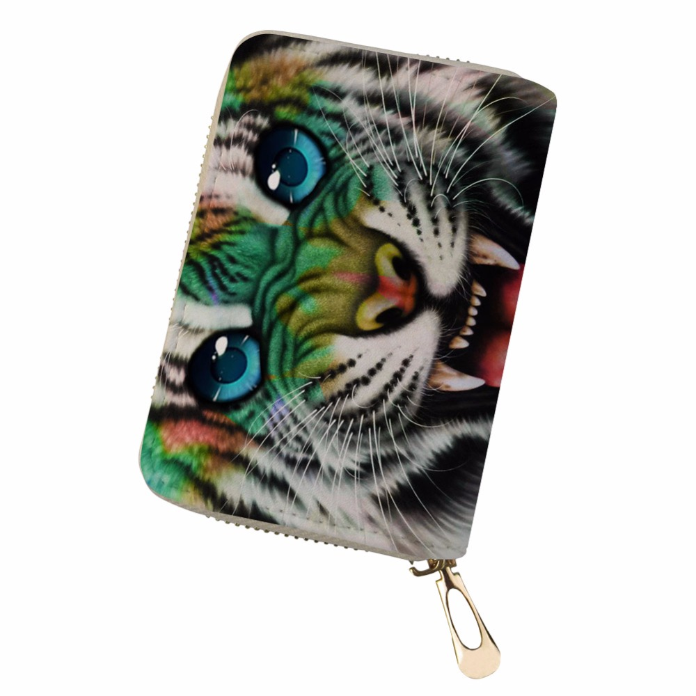 Luggage & Bags Coin Purses & Holders Noisydesigns Pu Leather Kaarthouder Animal Sparkling Eye Cards Holder Canta Bag Women Pokemon Cards Durable Slim Wallet Pochette Colours Are Striking