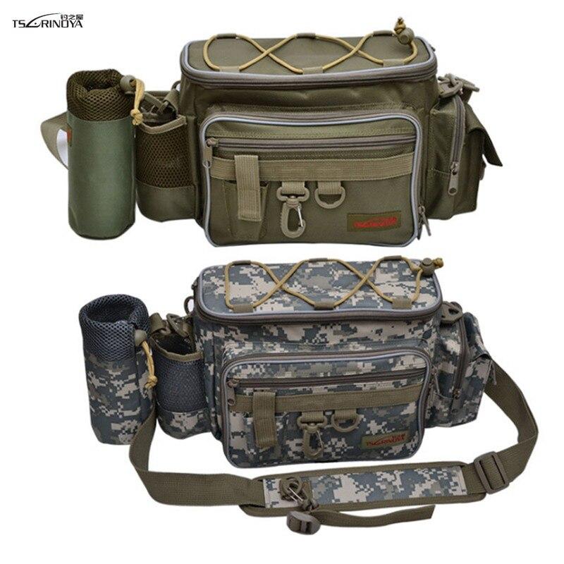 TSURINOYA Fishing Bag 27 10 20cm Multifunctional lure waist bag Outdoor fishing bag Fabric 600D Fishing