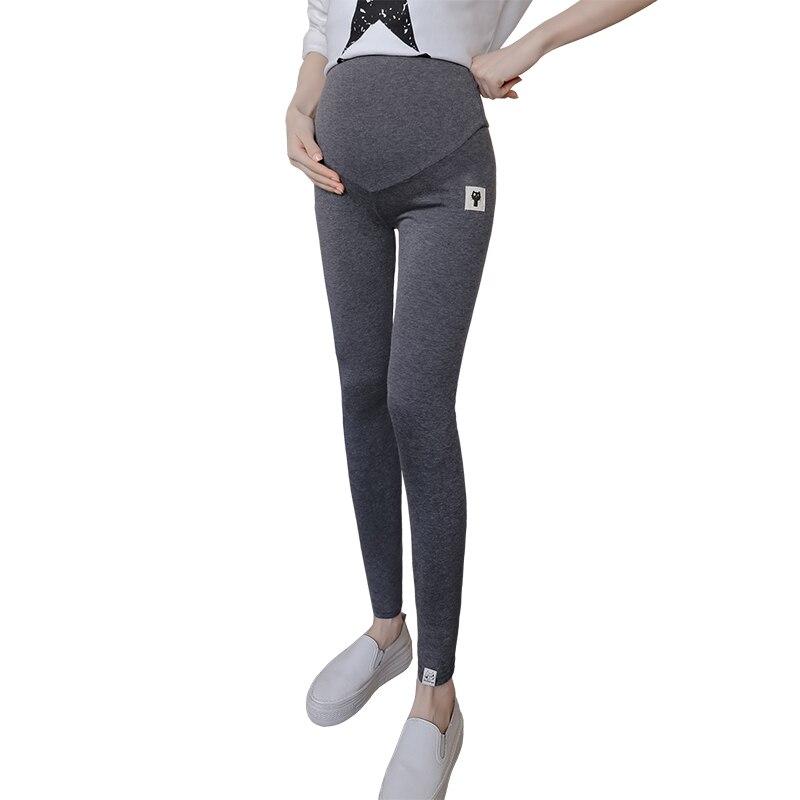 2018 herbst herbst bauch dünne mutterschaft legging elastische baumwolle einstellbare taille bleistift schwangerschaft hose kleidung