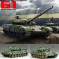 1:35 escala de rusia T-72B blindado tanque de batalla principal con Motor DIY modelo ensamblado plástico juguete